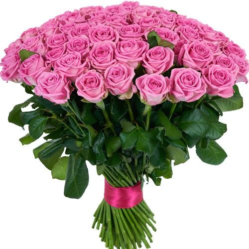 Купить на заказ Букет из 101 розовой розы с доставкой в Жетысае